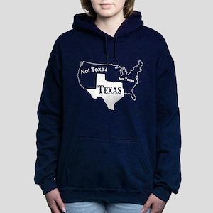 Texas Not Texas T Shirt Women's Hooded Sweatshirt