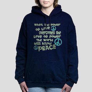 World Peace Women's Hooded Sweatshirt