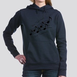 Music Notes PERSONALIZED Women's Hooded Sweatshirt