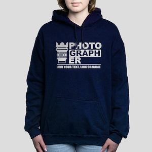 Custom Photographer Women's Hooded Sweatshirt