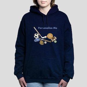 Personalized Sports Women's Hooded Sweatshirt
