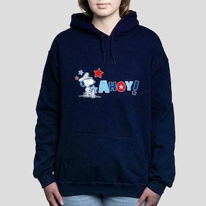 Snoopy AHOY Women's Hooded Sweatshirt