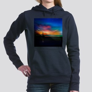 Sunrise Over The Sea And Lighthouse Women's Hooded