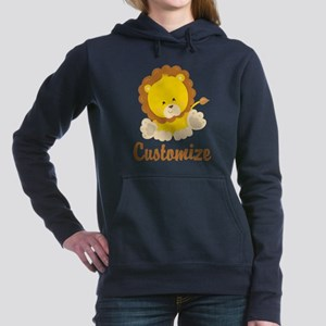 Custom Baby Lion Women's Hooded Sweatshirt