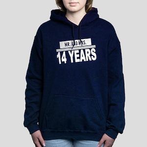 Mr. And Mrs. 14 Years Women's Hooded Sweatshirt