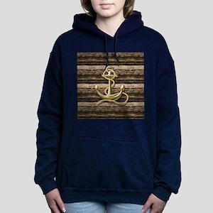 shabby chic vintage anch Women's Hooded Sweatshirt