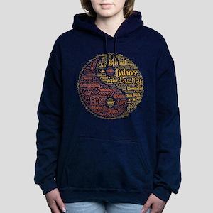 Yin Yang Spiritual Word Women's Hooded Sweatshirt