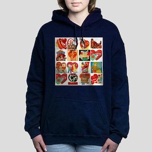 vintage valentines day c Women's Hooded Sweatshirt