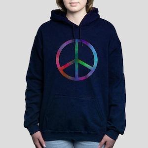 Multicolored Peace Sign Women's Hooded Sweatshirt