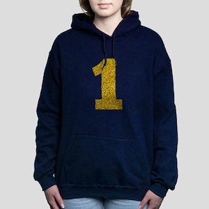 Number 1 Women's Hooded Sweatshirt