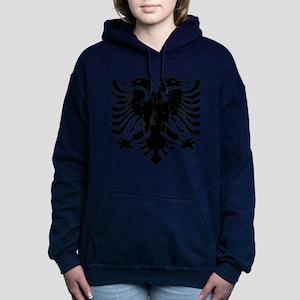 albania_eagle_distressed Women's Hooded Sweatshirt