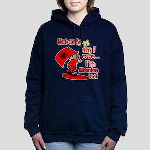 Cute and Albanian Women's Hooded Sweatshirt