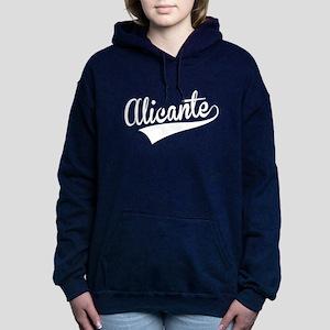 Alicante, Retro, Women's Hooded Sweatshirt