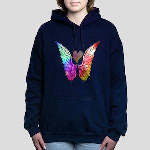 Angel Wings Heart Women's Hooded Sweatshirt