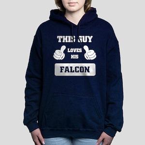 THIS GUY LOVES HIS FALCO Women's Hooded Sweatshirt