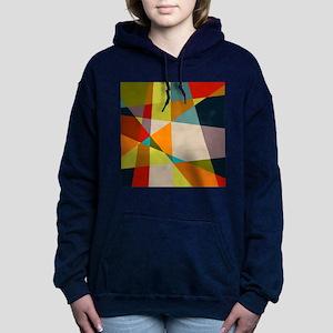 Mid Century Modern Geome Women's Hooded Sweatshirt