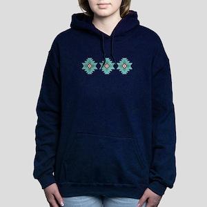 Southwest Native Border Women's Hooded Sweatshirt