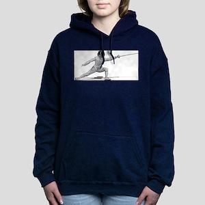 Fencing Women's Hooded Sweatshirt