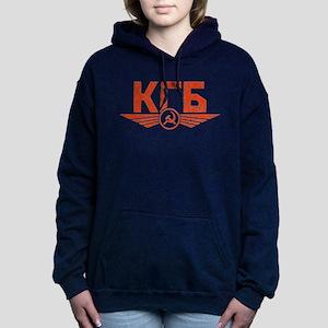 KGB Emblem Red Women's Hooded Sweatshirt
