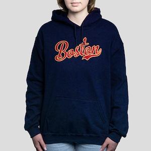 Boston Script Gold VINTA Women's Hooded Sweatshirt