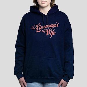 new pole lineman wife text pink Sweatshirt