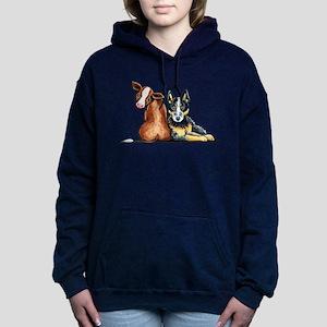 ACD and Cow Women's Hooded Sweatshirt