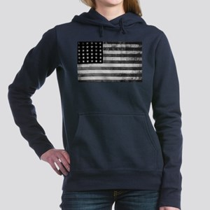 American Vintage Flag Bl Women's Hooded Sweatshirt