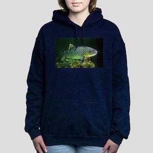 BROWN TROUT Women's Hooded Sweatshirt