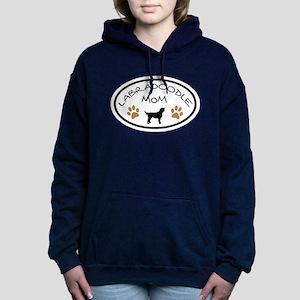 Labradoodle Mom Oval Hooded Sweatshirt