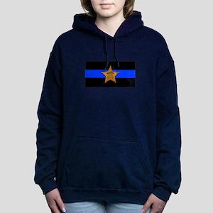 Sheriff Thin Blue Line Women's Hooded Sweatshirt