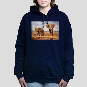 Family Of Elephants Women's Hooded Sweatshirt