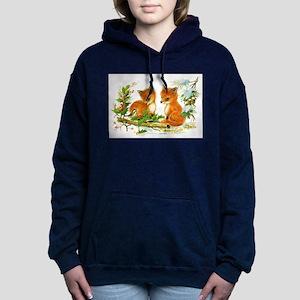 Cute Vintage Christmas F Women's Hooded Sweatshirt