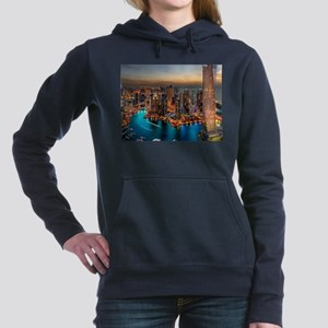 Dubai Skyline Women's Hooded Sweatshirt