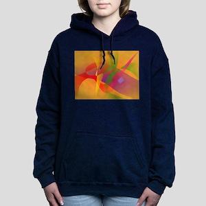Digital Kandinsky Emulation Women's Hooded Sweatsh