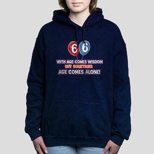 Funny 66 wisdom saying b Women's Hooded Sweatshirt