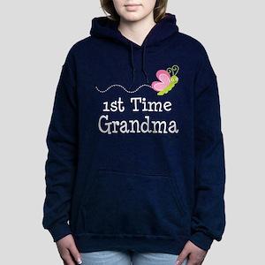 1st Time Grandma Women's Hooded Sweatshirt