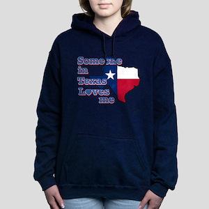 someone in texas loves m Women's Hooded Sweatshirt