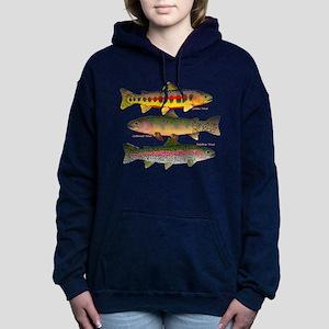 3 Western Trout Women's Hooded Sweatshirt