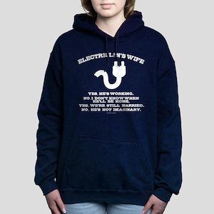 Electrician's Wife Women's Hooded Sweatshirt