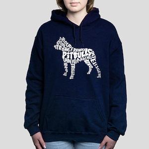 Pit Bull Word Art Women's Hooded Sweatshirt