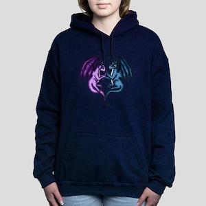 Dragon Couple Women's Hooded Sweatshirt