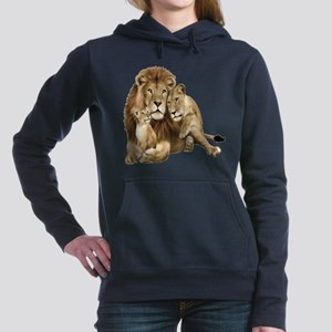 Lion And Cubs Women's Hooded Sweatshirt