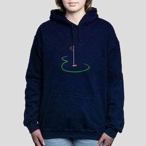 Golf Green Women's Hooded Sweatshirt