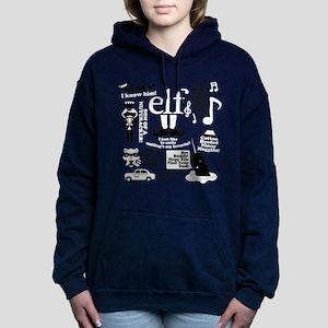 Elf Collage Women's Hooded Sweatshirt