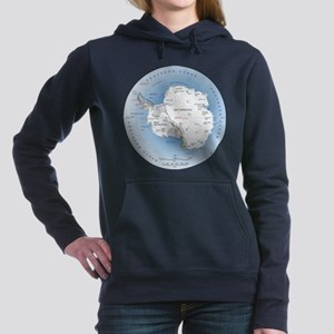 Map Antarctica Women's Hooded Sweatshirt