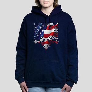 Albanian American Eagle Hooded Sweatshirt