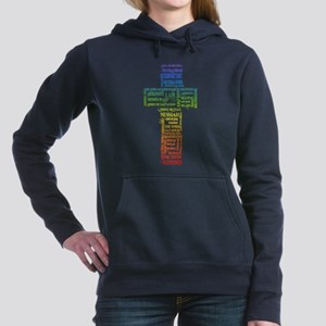Names of Jesus Cross Women's Hooded Sweatshirt
