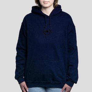 Treble Heart Women's Hooded Sweatshirt