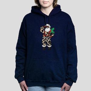 african leopard santa claus Sweatshirt