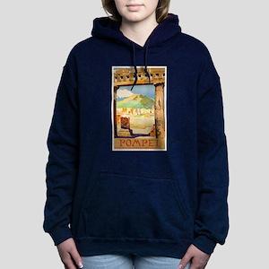 Pompei Italy ~ Vintage T Women's Hooded Sweatshirt